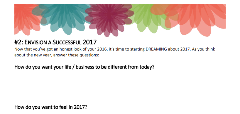Envision a Successful 2017